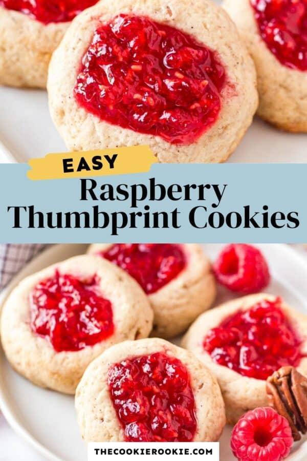 raspberry thumbprint cookies pinterest