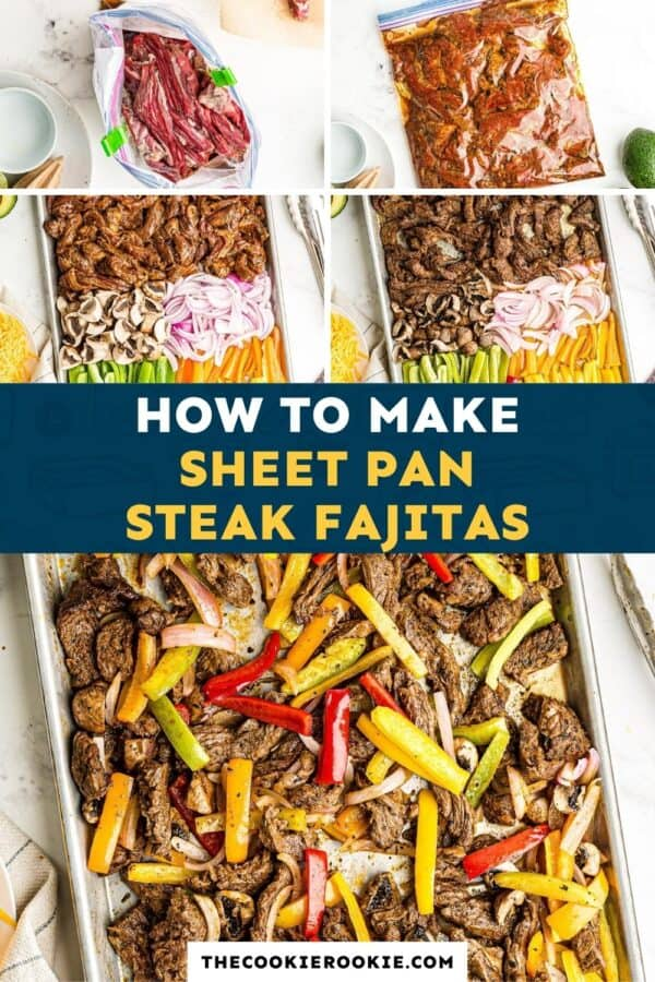 sheet pan steak fajitas pinterest