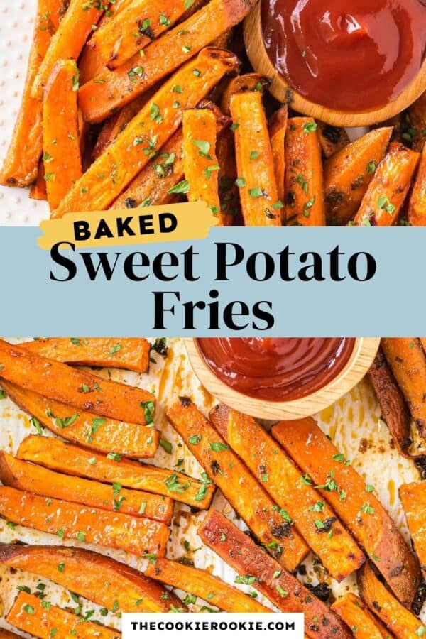 sweet potato fries pinterest collage