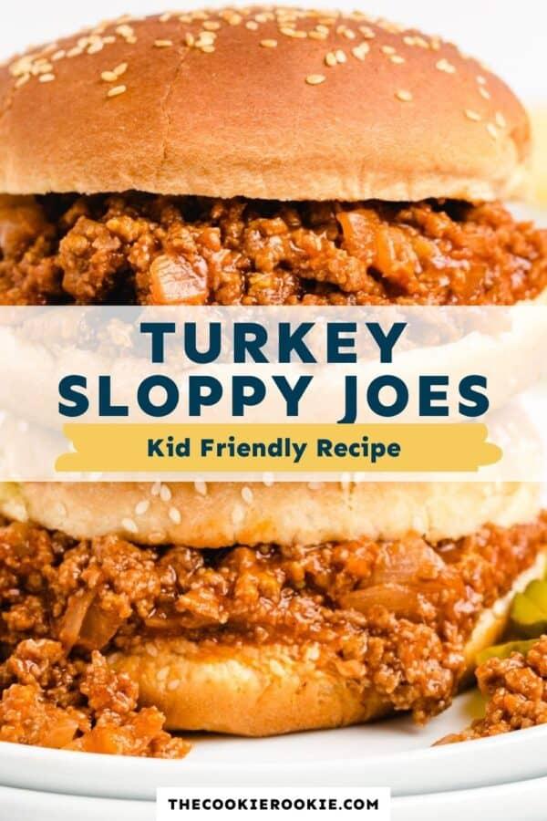 turkey sloppy joes pinterest collage