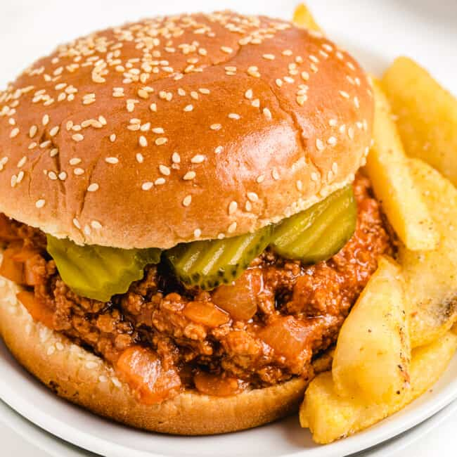 turkey sloppy joes pinterest collage