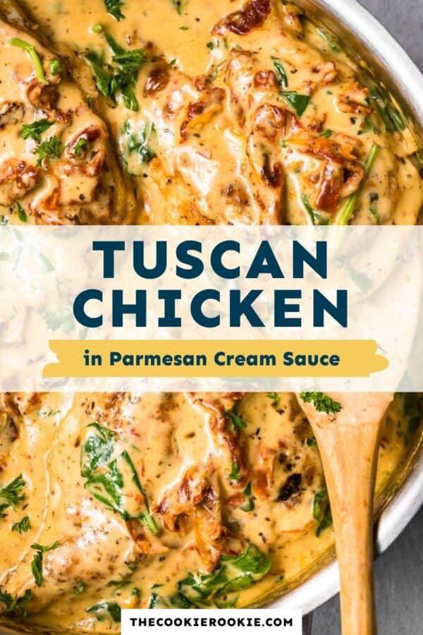 tuscan chicken in parmesan cream sauce pinterest