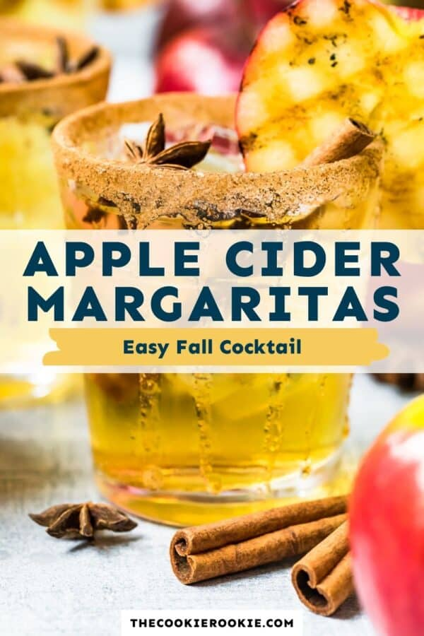 apple cider margaritas pinterest