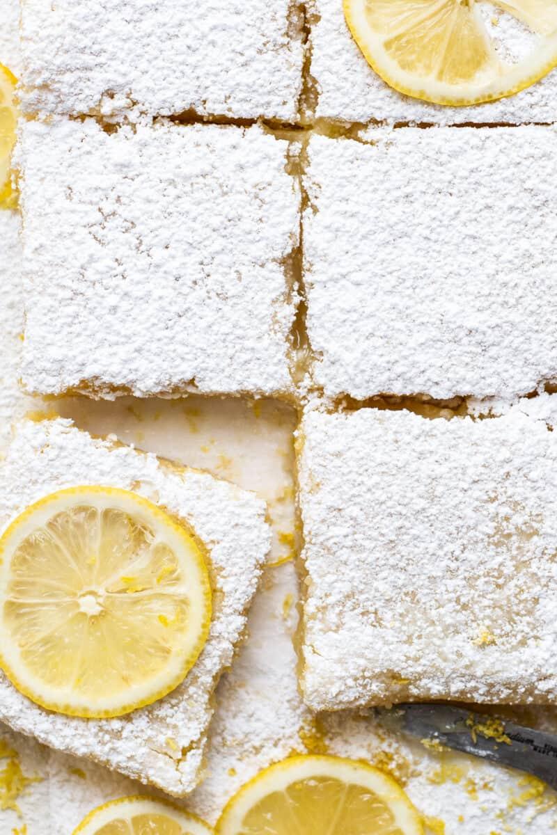 up close lemon bars