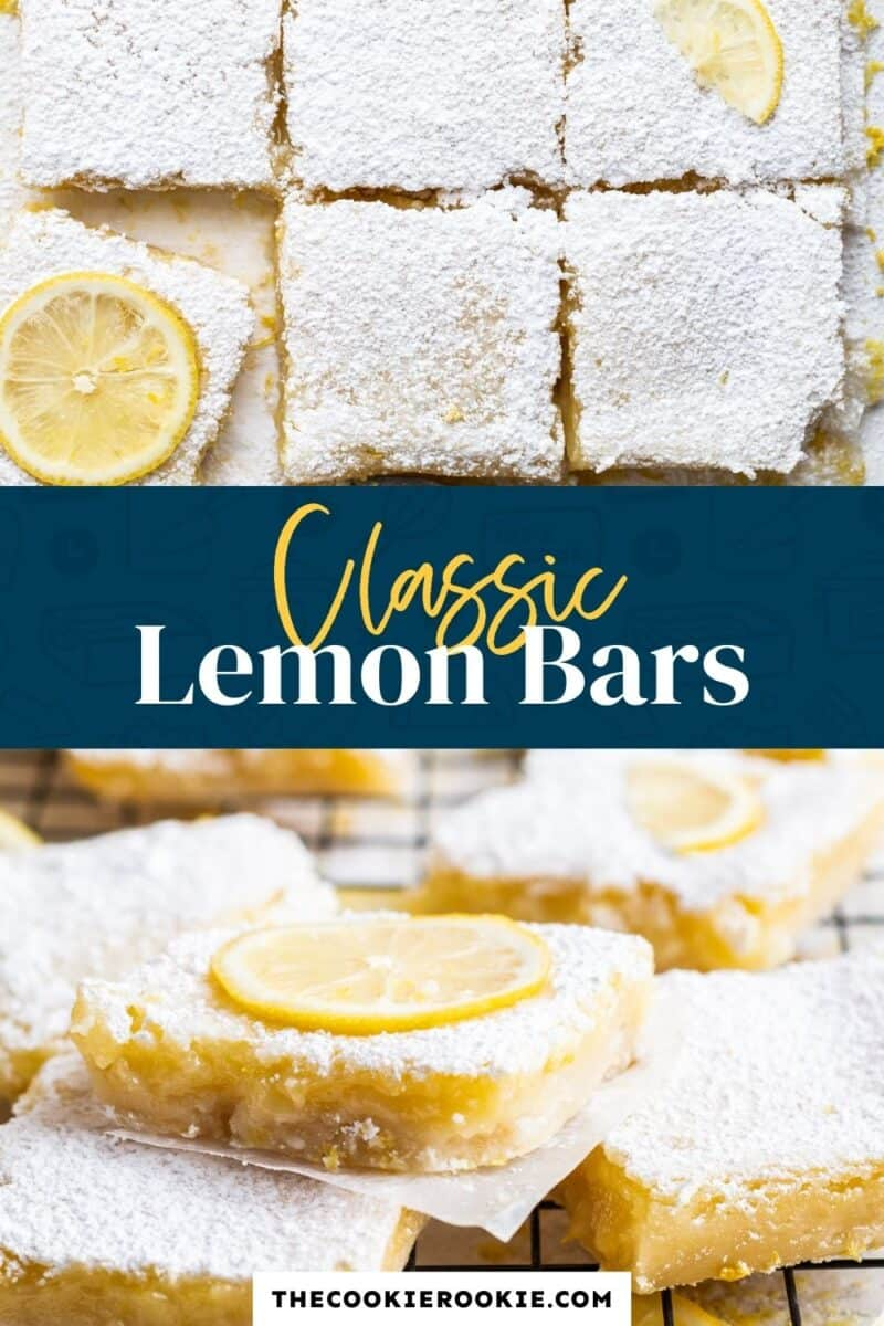classic lemon bars pinterest collage