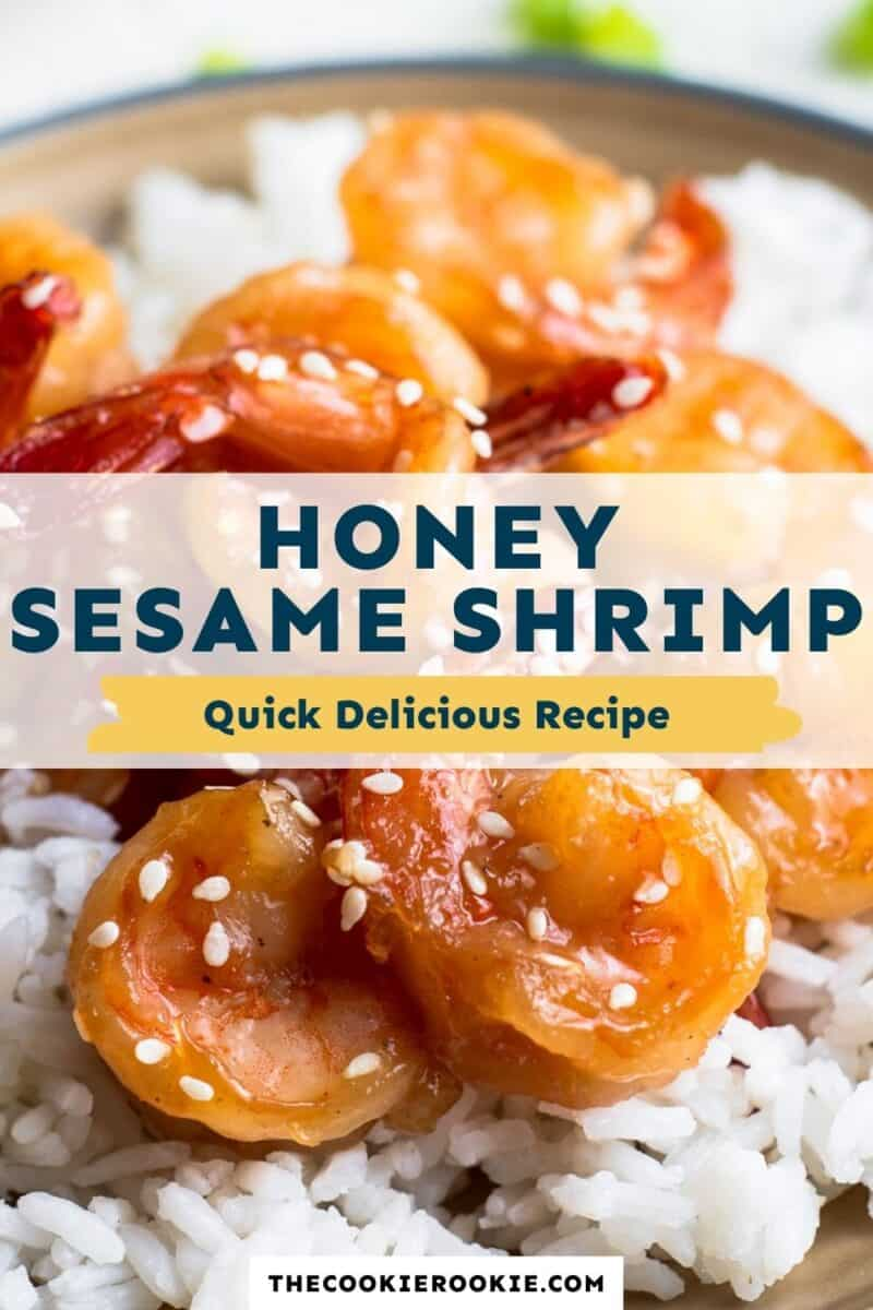 honey sesame shrimp pinterest collage