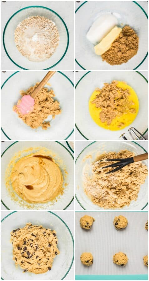step by step photos of how to make chocolate chip cookies