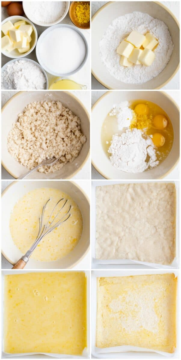 step by step photos of how to make lemon bars