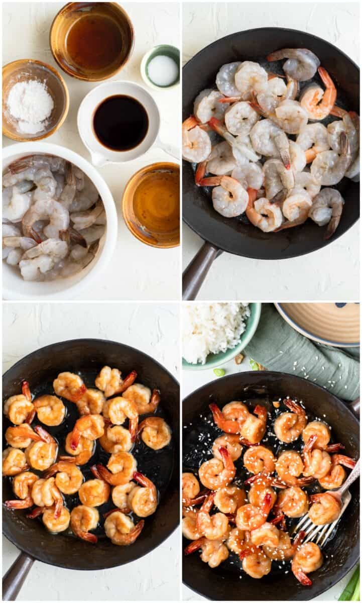 step by step photos of how to make honey sesame shrimp