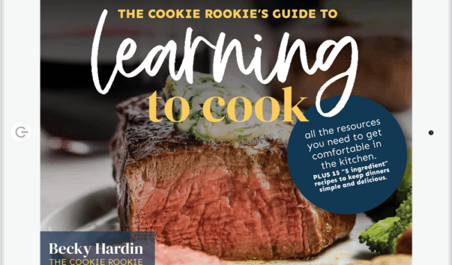 learning to cook ebook on ipad