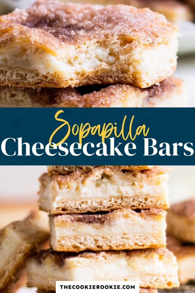 sopapilla cheesecake bars pinterest collage