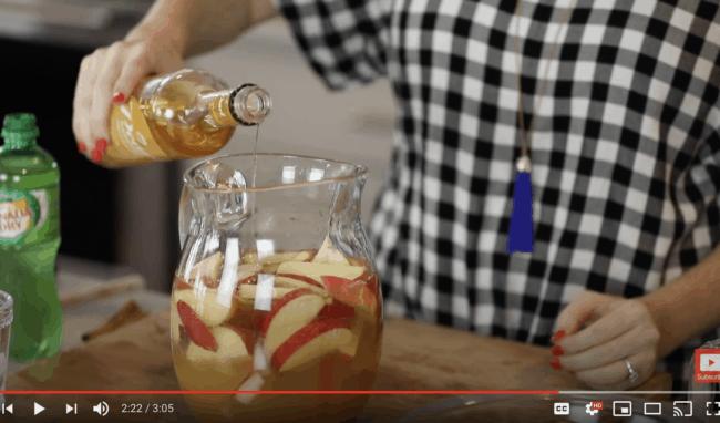 apple pie sangria youtube screenshot