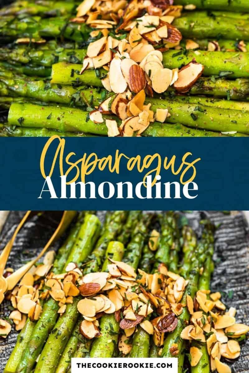 asparagus almondine pinterest collage