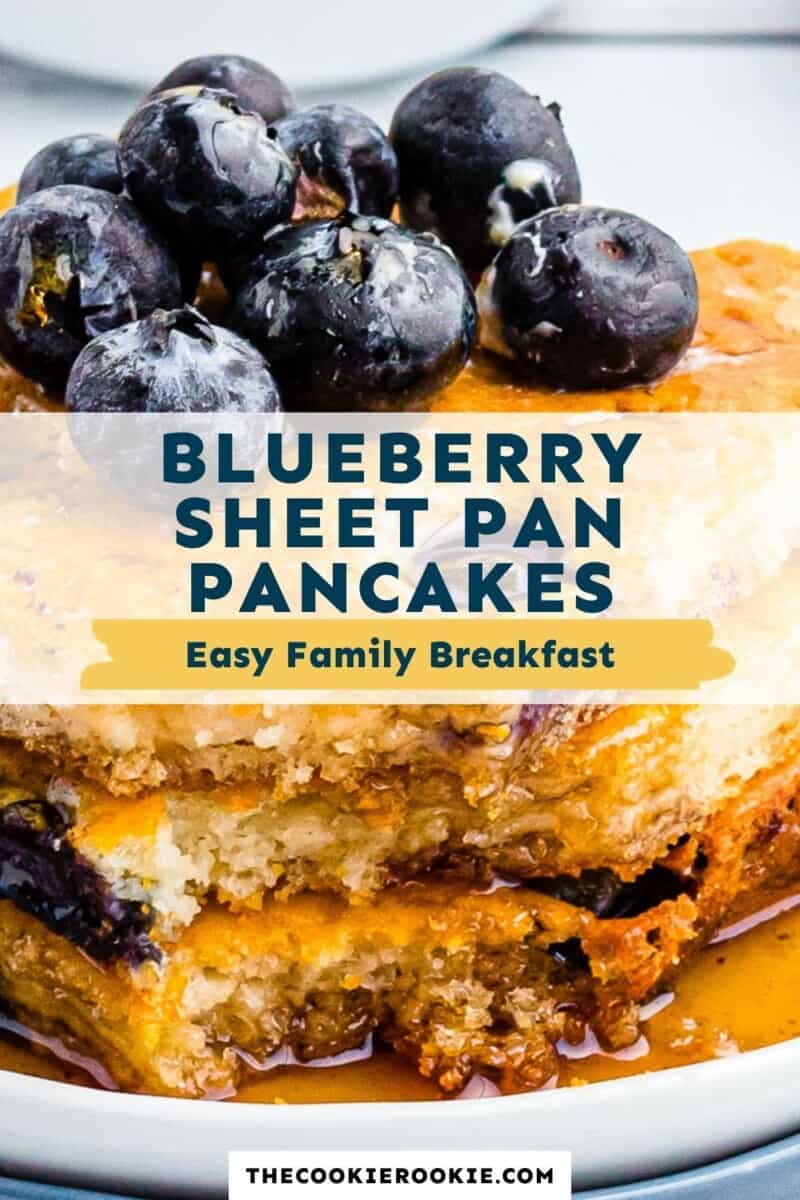 blueberry sheet pan pancakes pinterest