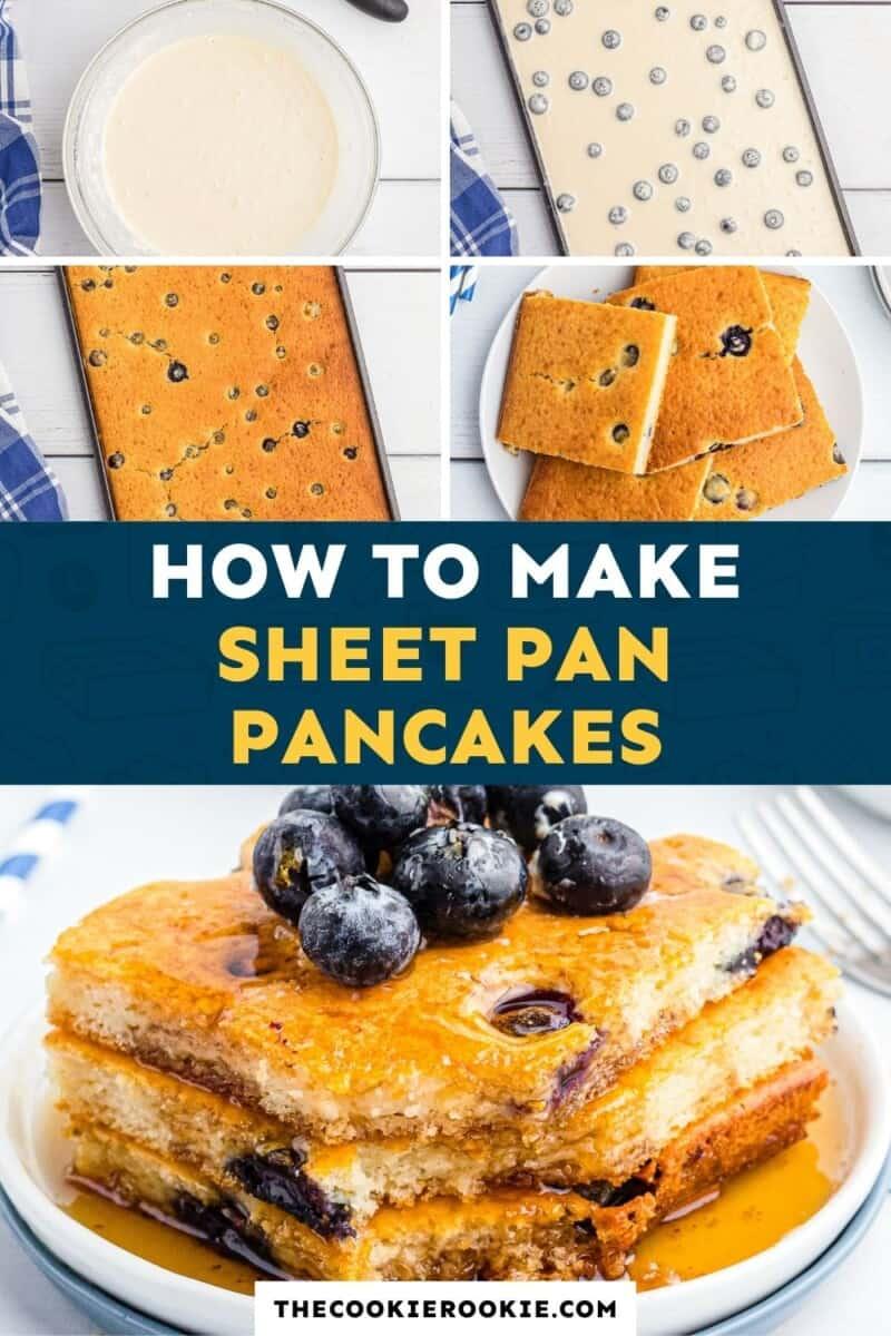 blueberry sheet pan pancakes pinterest