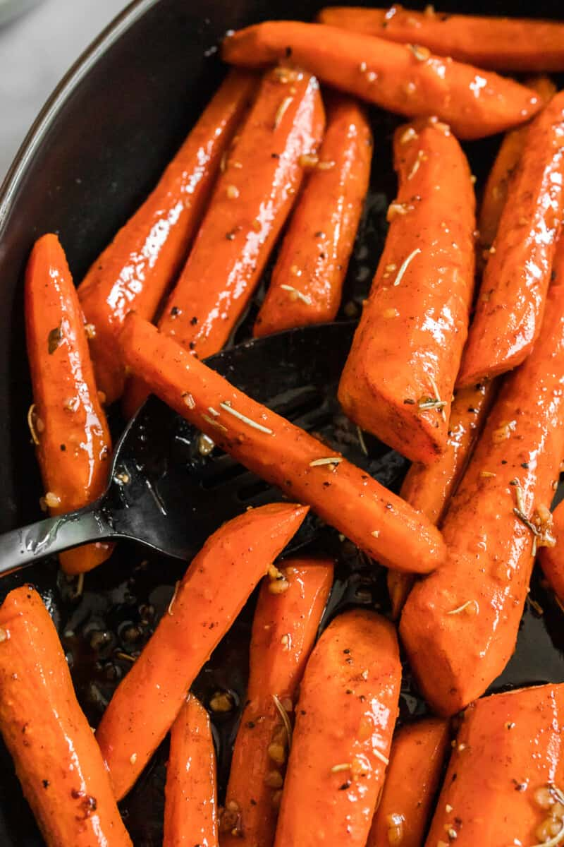 up close image of brown sugar glazed carrots