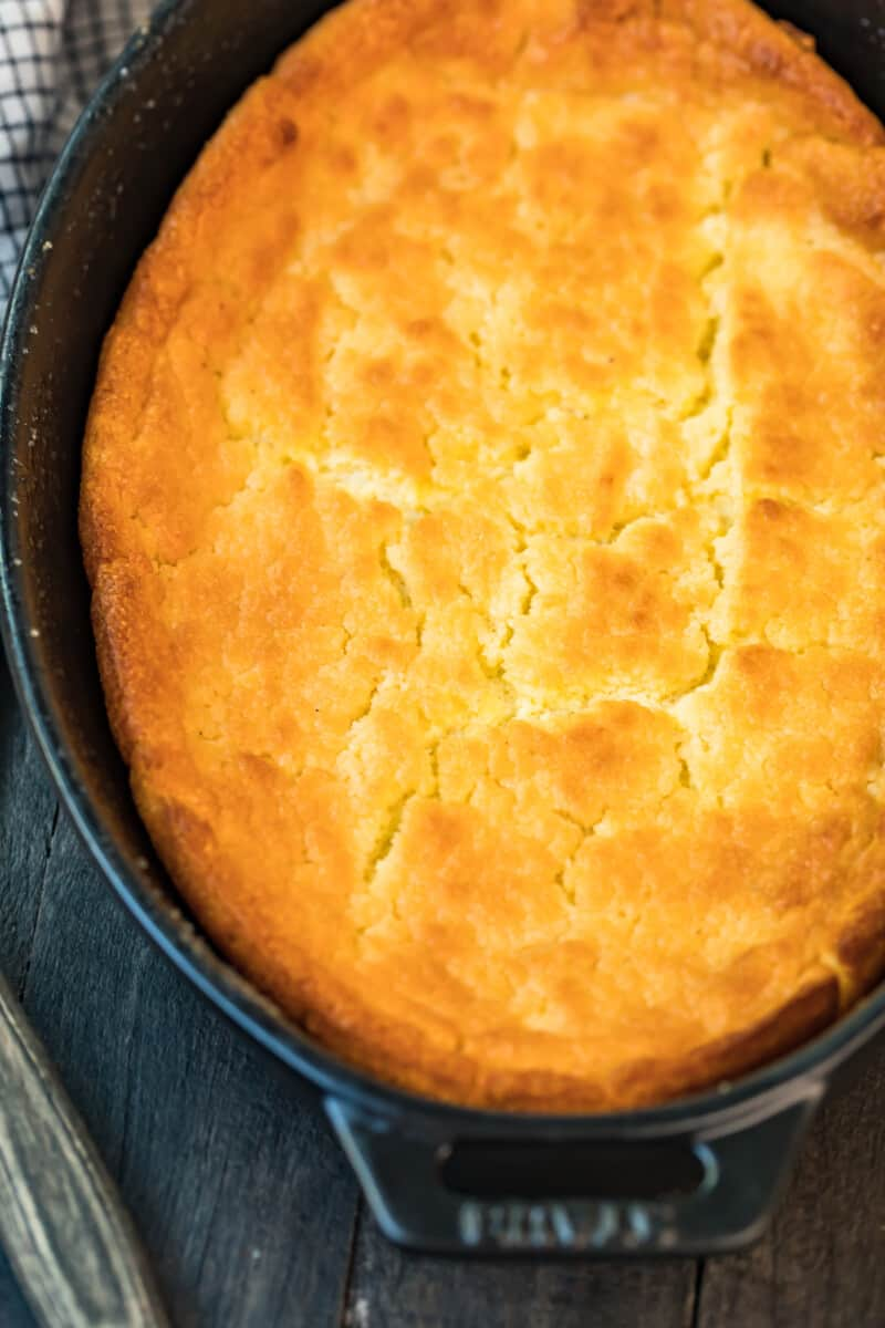 up close image of spoon bread
