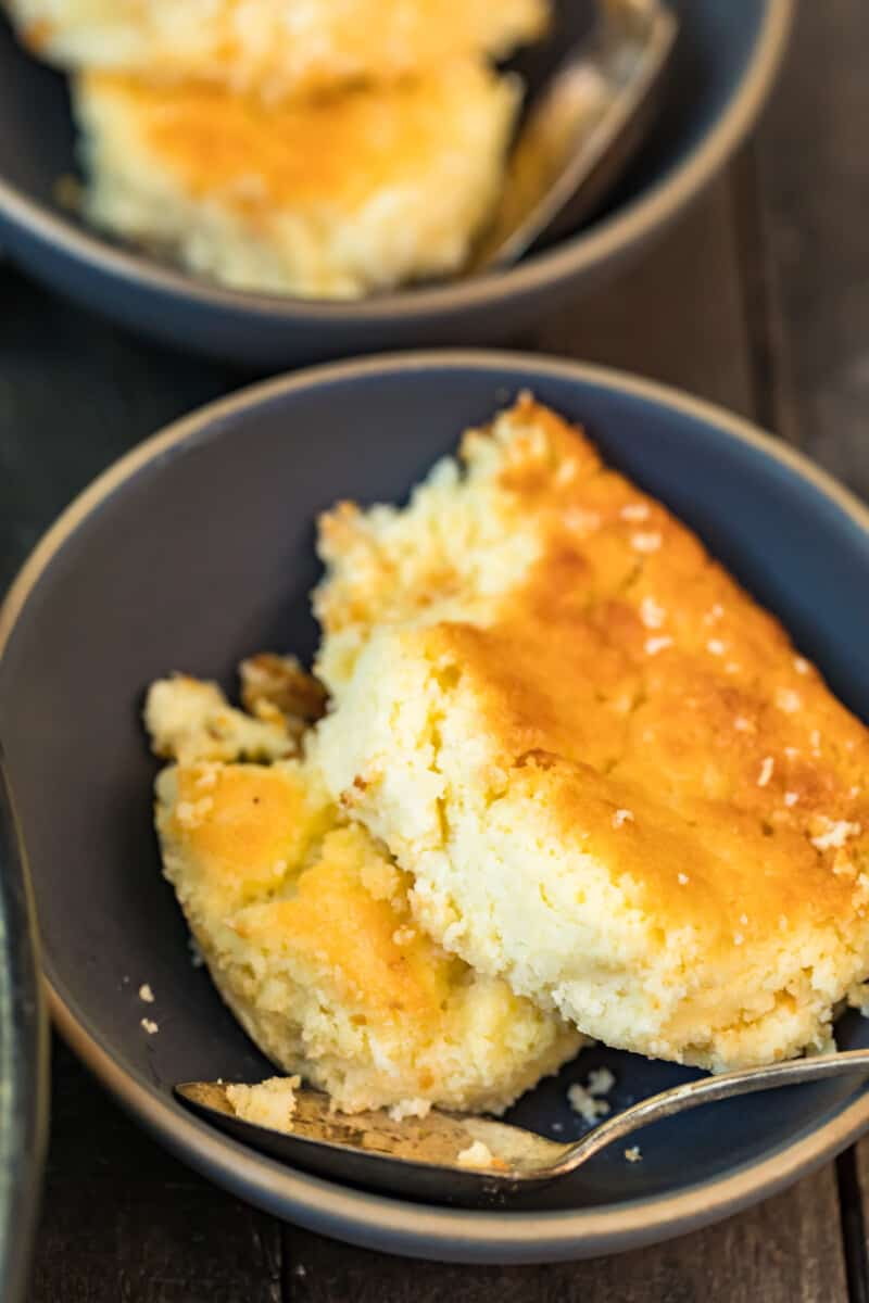 bowls with spoon bread