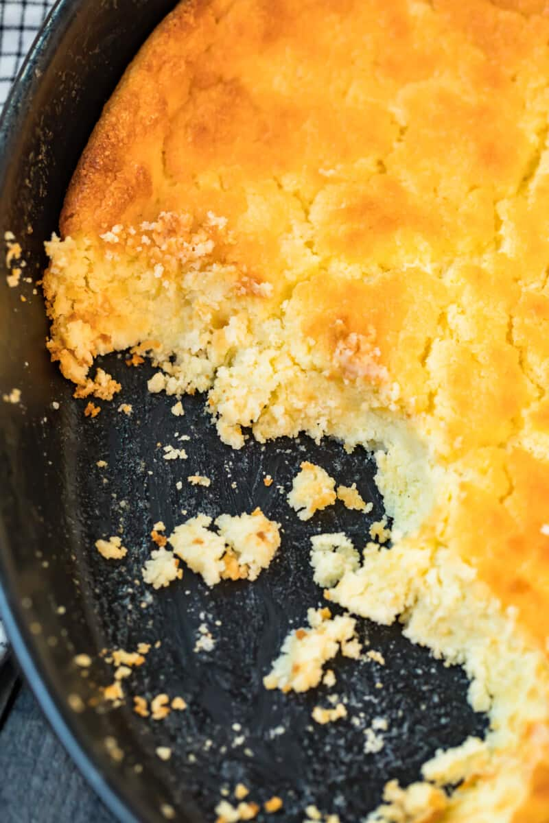 baking dish with buttermilk spoon bread