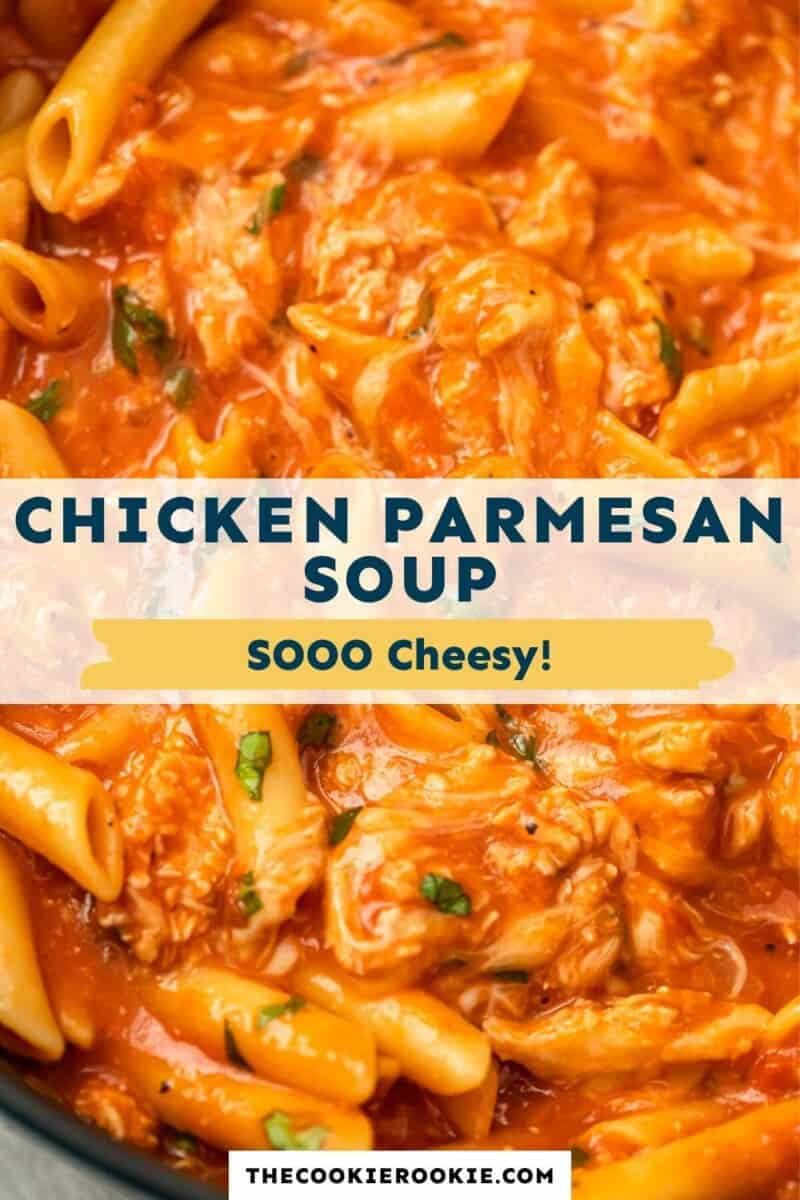 chicken parmesan soup pinterest collage