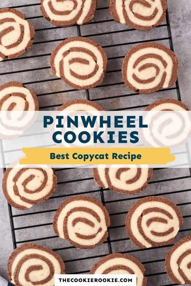 chocolate vanilla pinwheel cookies pinterest