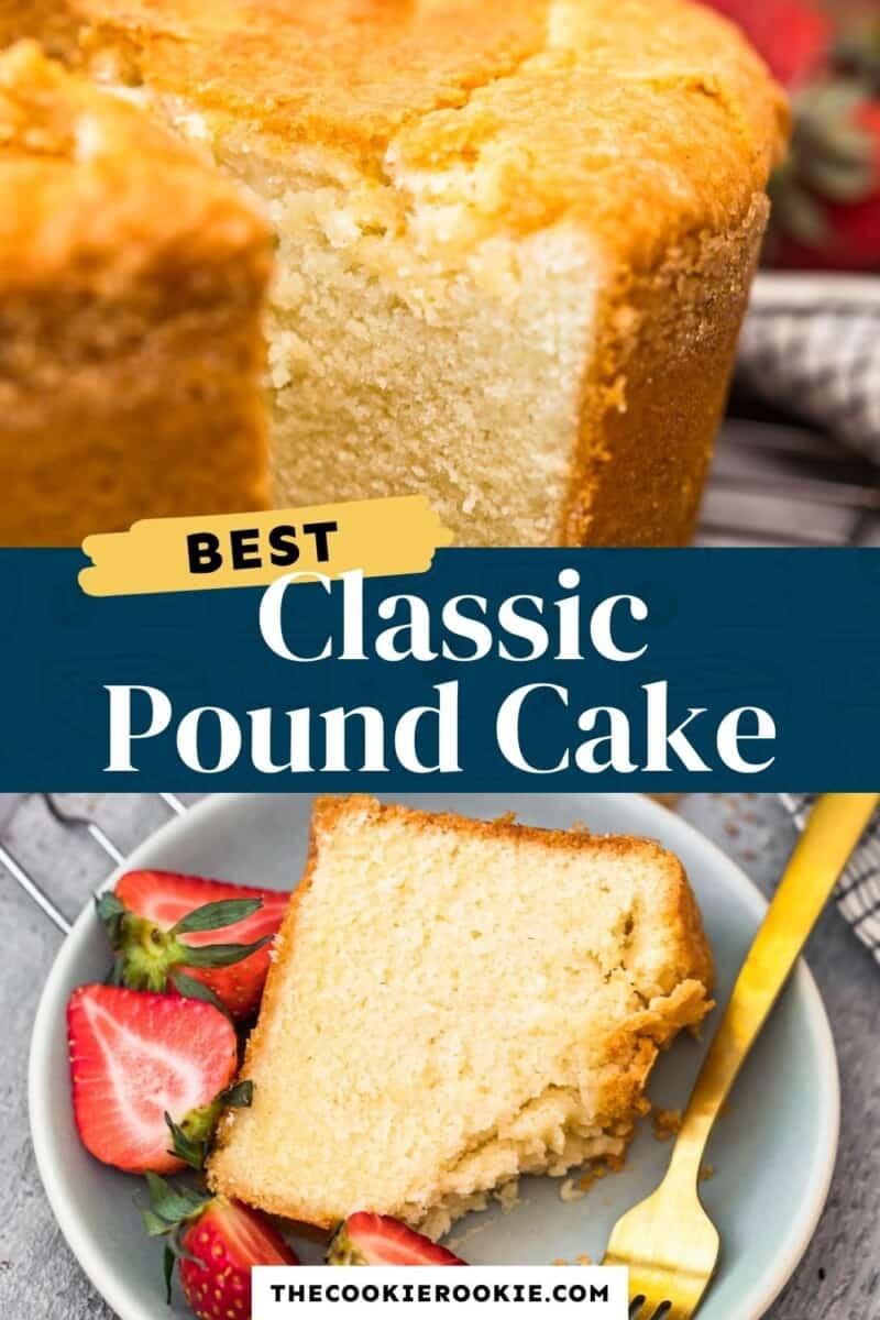 classic pound cake pinterest