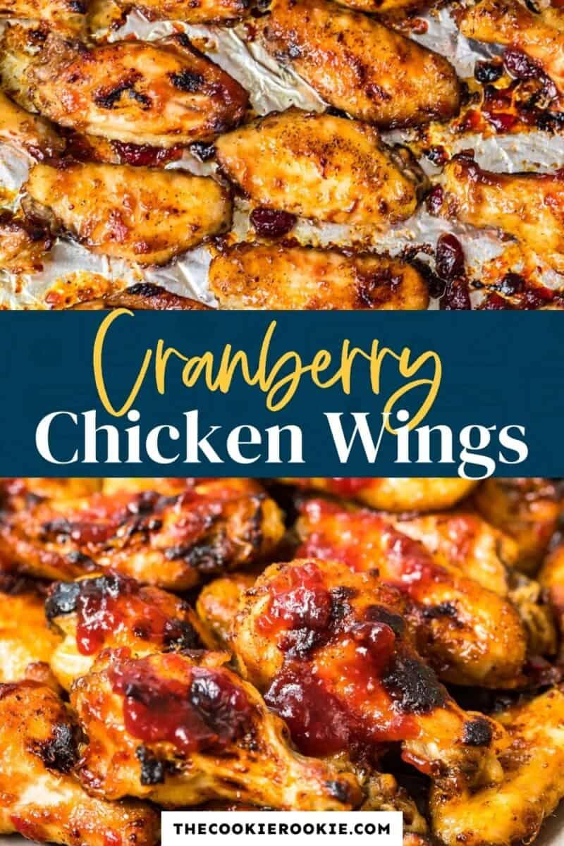 cranberry chicken wings pinterest