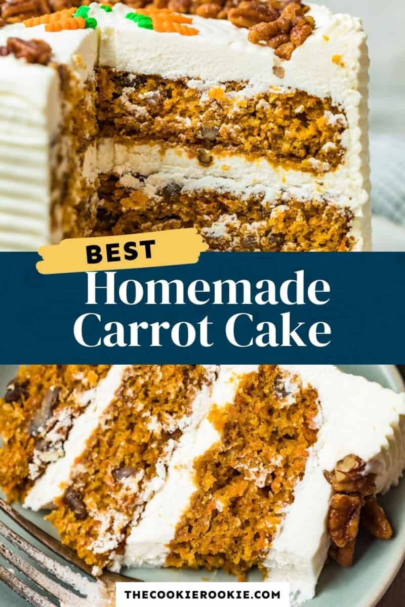 homemade carrot cake pinterest collage