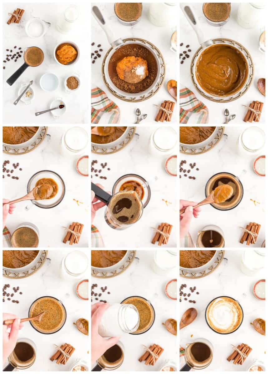 how to make homemade pumpkin spice lattes