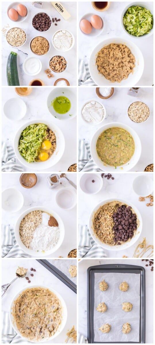 how to make zucchini chocolate chip cookies