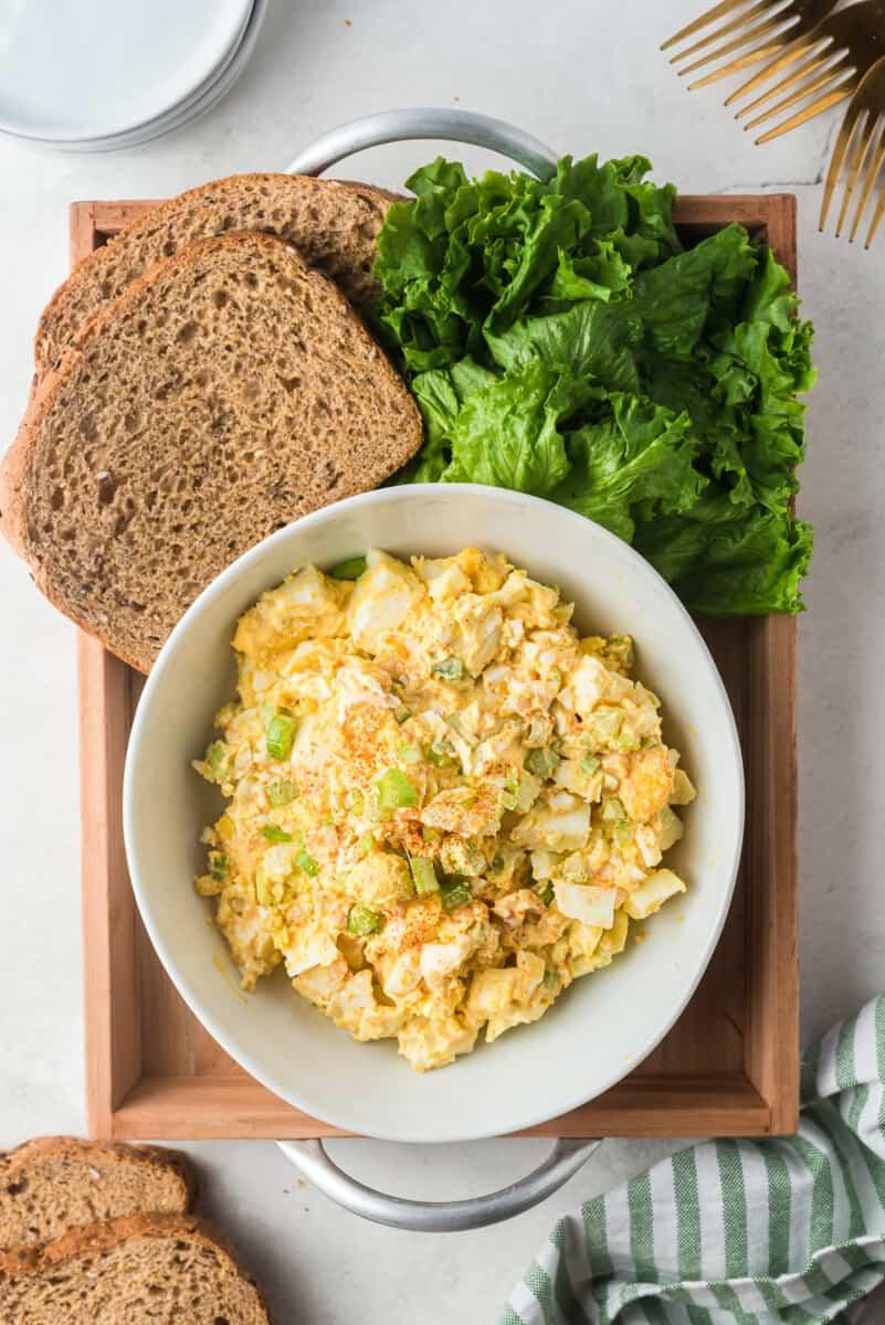 instant pot egg salad in bowl