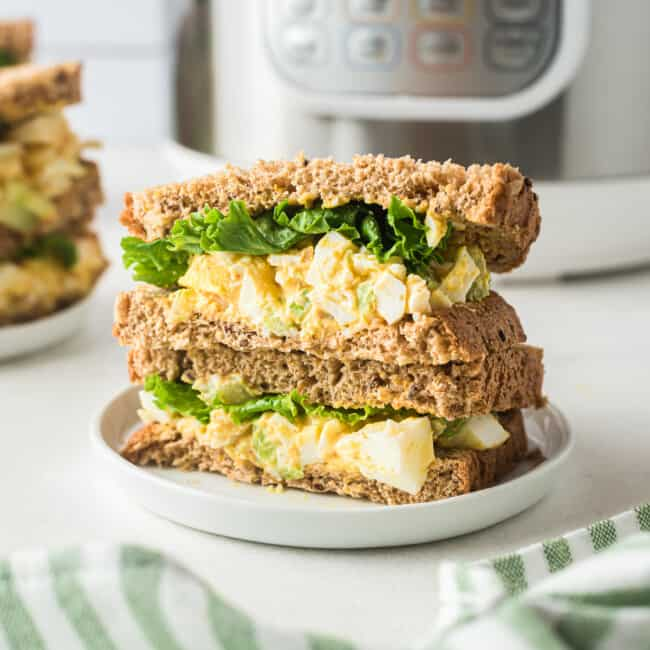egg salad sandwiches made in instant pot