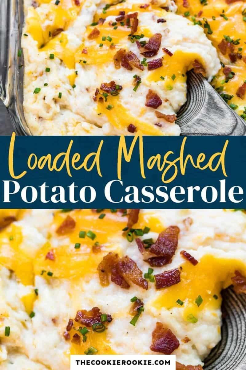 loaded mashed potato casserole pinterest collage