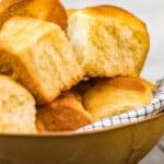 bowl of make ahead yeast rolls
