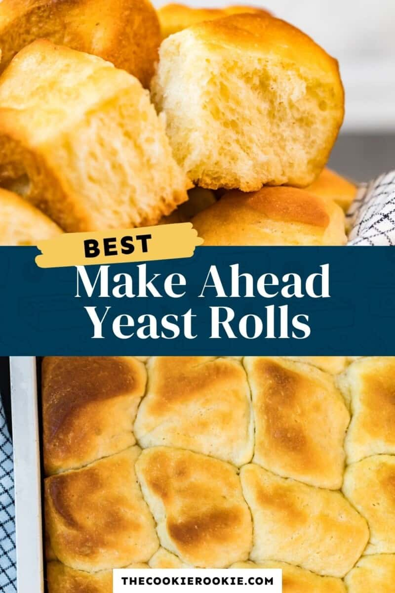 make ahead yeast rolls pinterest collage
