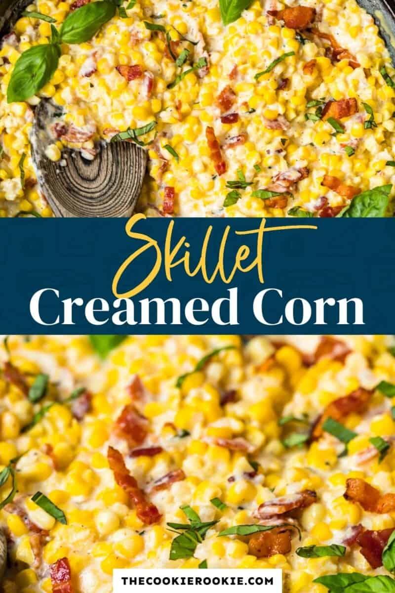 skillet creamed corn pinterest