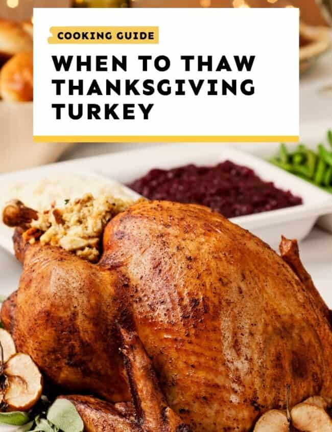 when to thaw thanksgiving turkey