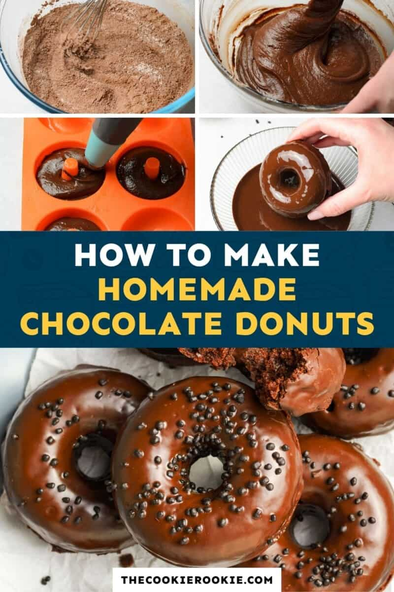 chocolate donuts pinterest collage