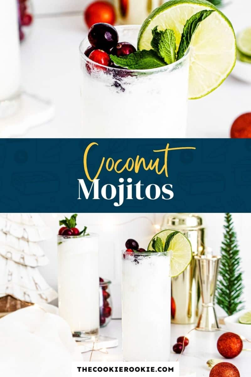 coconut mojitos pinterest collage