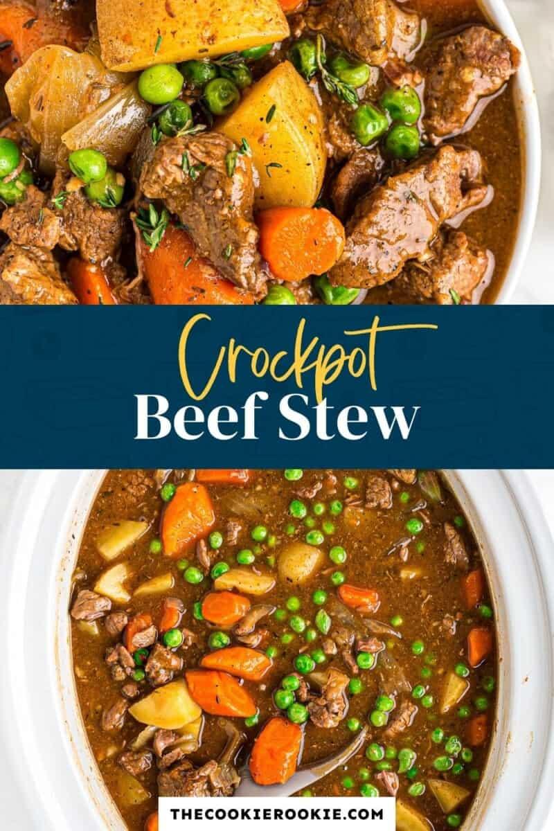 crockpot beef stew pinterest collage