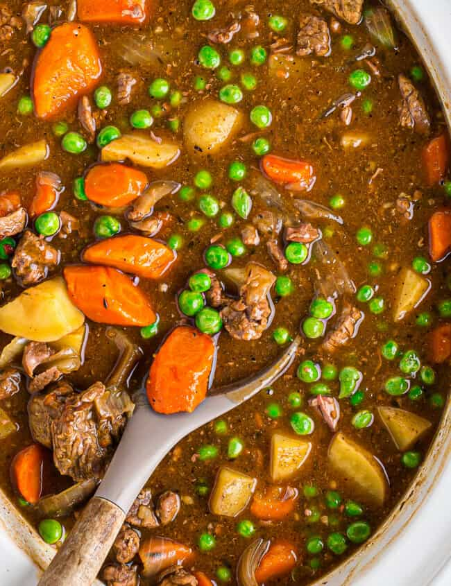 crockpot beef stew in slow cooker