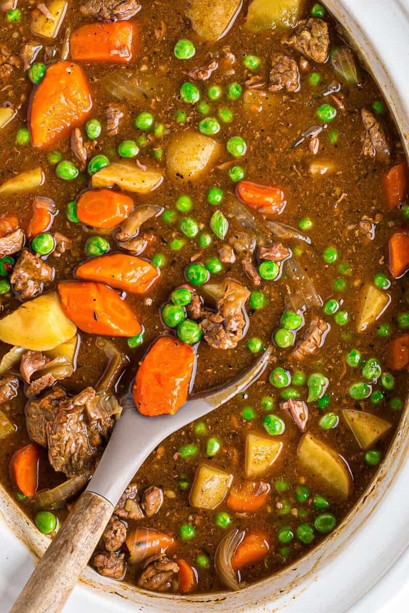 crockpot beef stew in slow cooker