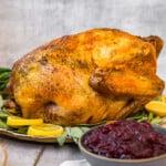 side shot of easy thanksgiving turkey