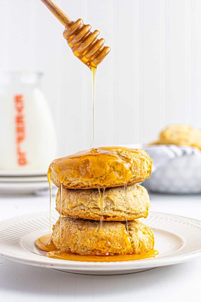 gluten free buttermilk biscuits with honey