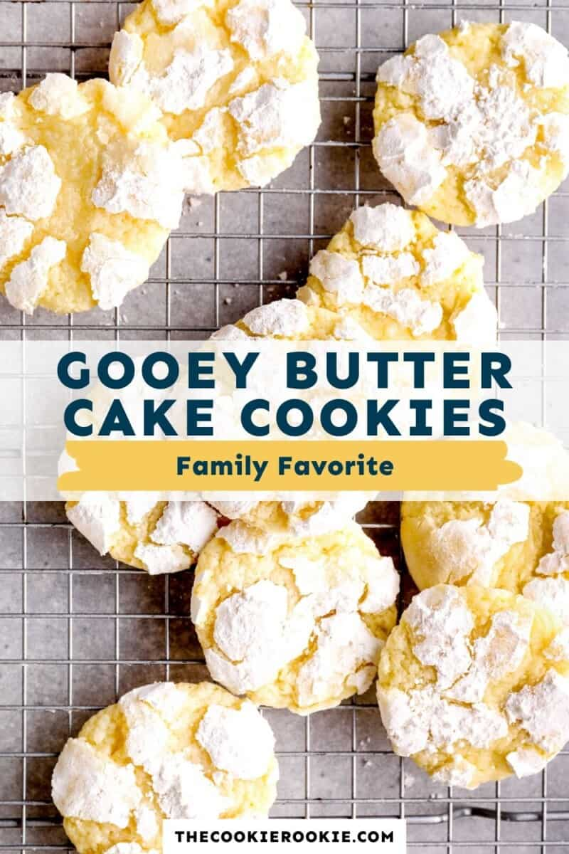 gooey butter cake cookies pinterest collage