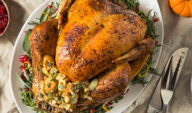 roast turkey stock image