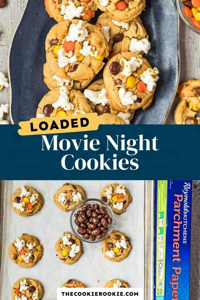 movie night cookies pinterest collage