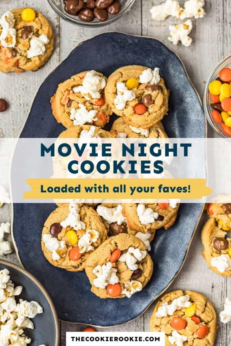 movie night cookies pinterest collage
