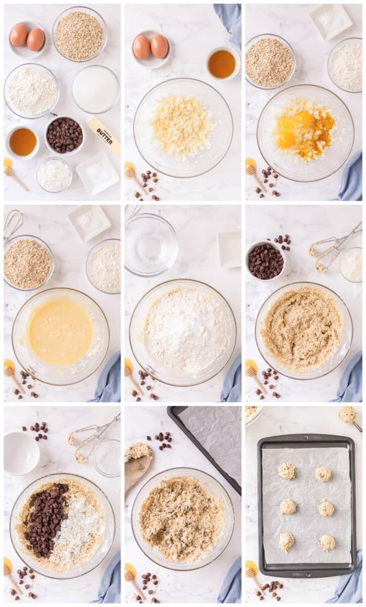 how to make oatmeal chocolate chip cookies sweetened with honey