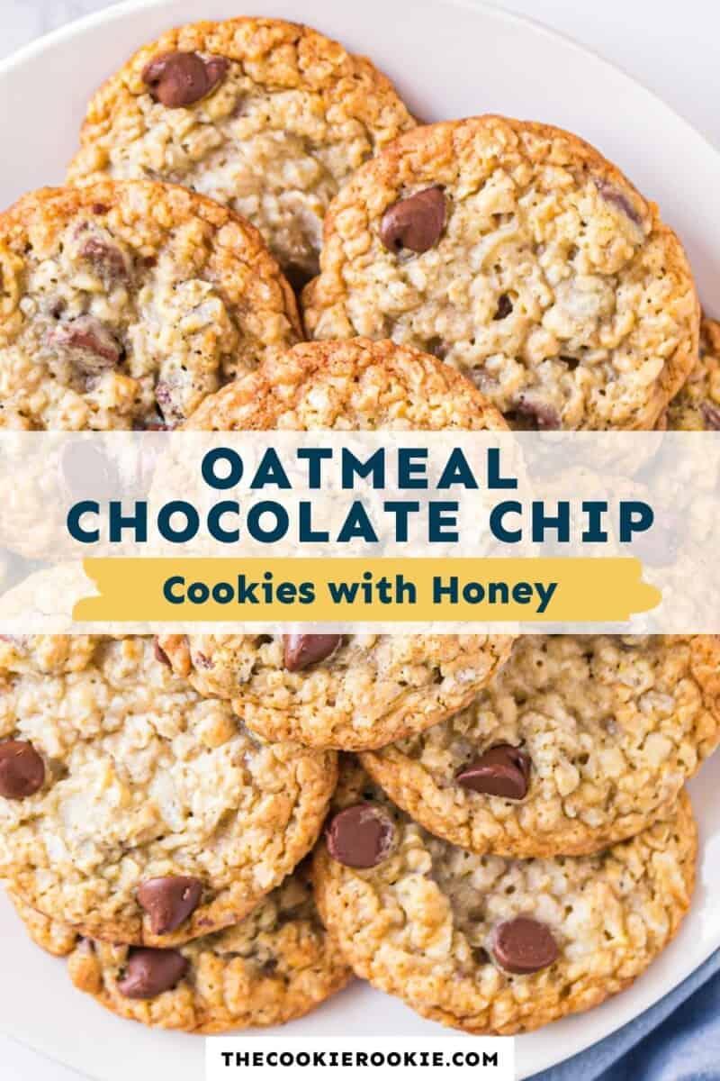 honey oatmeal chocolate chip cookies pinterest